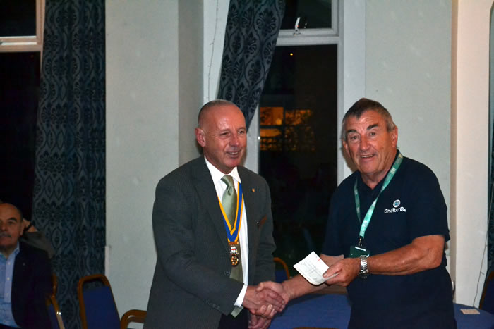 President Andrew was able to present another cheque for the purchase of one more during the meeting.